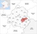 Locator map of Kanton Vallée de l'Homme 2019.png