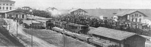 Royal Saxon State Railways - Locomotives during the 'locomotive escape' in 1866 at Eger station