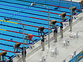 London 2012 Olympics Aquatics Centre Swimmers.jpg