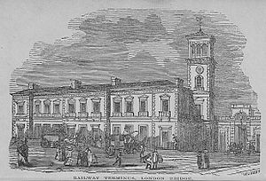 London Bridge station - The proposed London Bridge joint station c. 1844