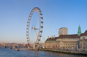 South Bank - Image: London Eye Jan 2006