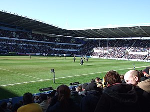 London Irish - London Irish playing at the Madejski Stadium with 22,648 people in attendance.