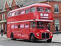 London red Routemaster bus, Cardiff, Wales, UK (16450765521).jpg