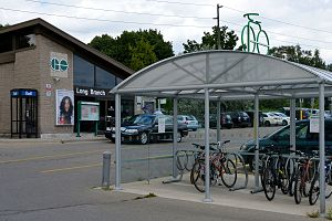 Long Branch GO Station - Image: Long Branch GO Station bike rack