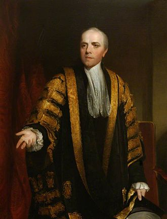 Chancellor (education) - Lord Grenville as Chancellor of the University of Oxford; painting by William Owen