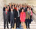 Los miembros del Patronato de la fundación Biblioteca Virtual Miguel de Cervantes en la BNE. Mayo de 2014..jpg