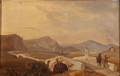 Louis Gurlitt - Italiensk landskab med bro i forgrunden.png