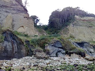 Luccombe Chine - Luccombe Chine from the beach, 2008