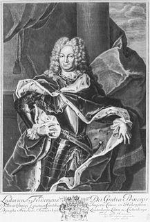 Louis Frederick I, Prince of Schwarzburg-Rudolstadt Prince of Schwarzburg-Rudolstadt