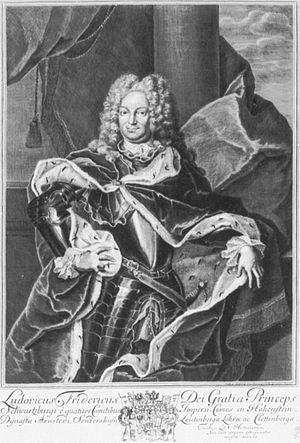 Louis Frederick I, Prince of Schwarzburg-Rudolstadt - Louis Frederick I, Prince of Schwarzburg-Rudolstadt