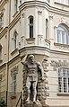 Luhačovice - Masarykova - View South on Lázeňský pavilon Radhošť - Atlant - Secession.jpg