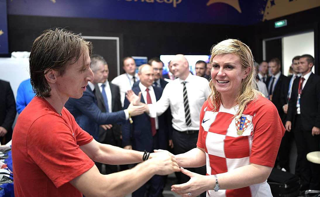 Luka Modrić meets Kolinda Grabar-Kitarović after the 2018 FIFA World Cup Final (1).jpg