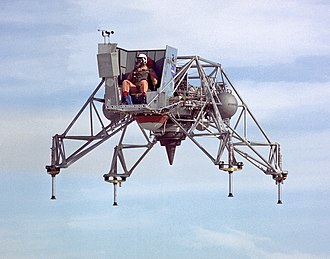 Lunar Landing Research Vehicle - Lunar Landing Research Vehicle No. 2 in flight, January 1967