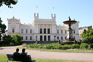 English: Lund University main building in Lund...