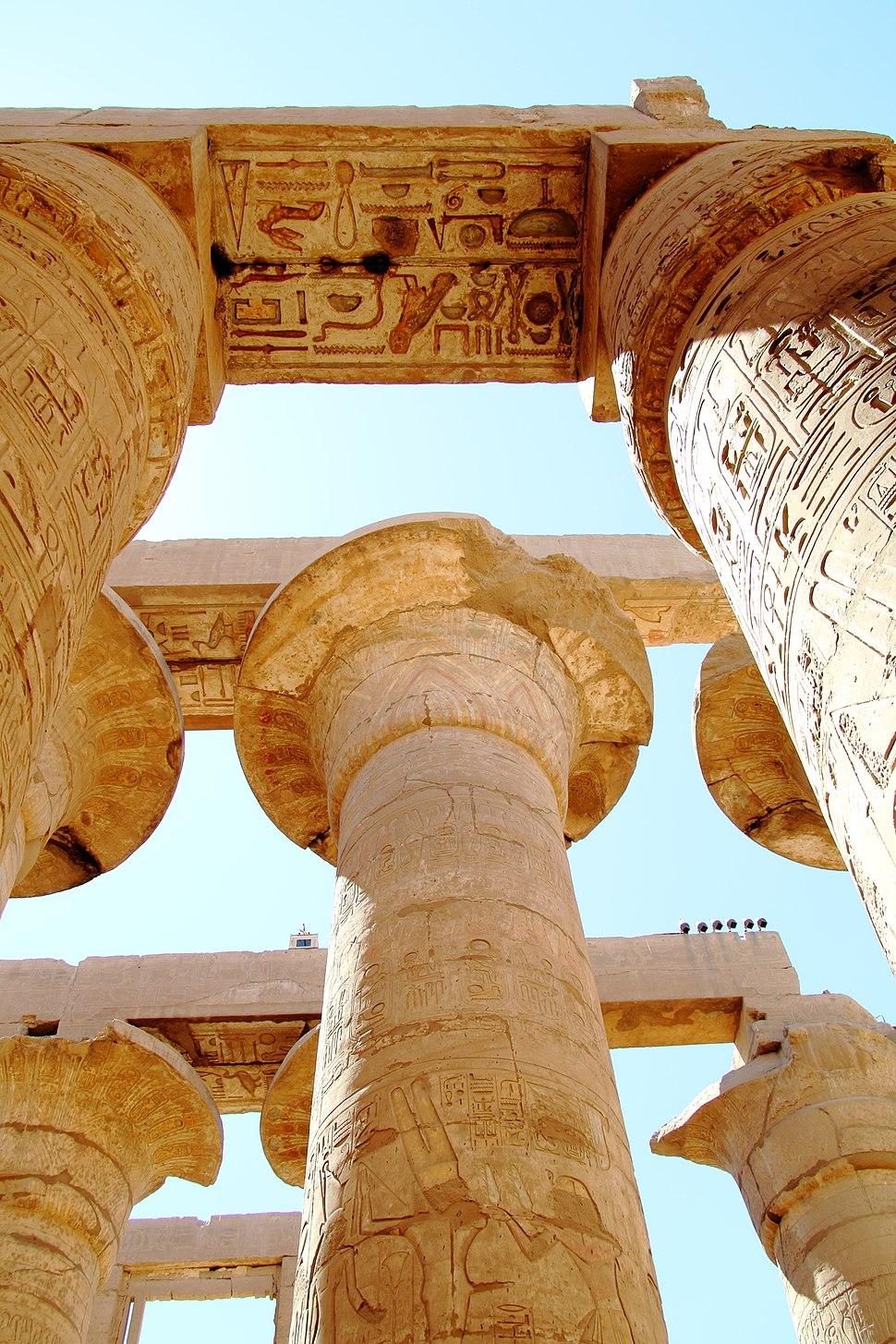 Luxor Karnak-Tempel 2016-03-21 Große Säulenhalle 04