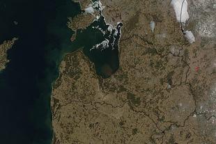Lettonia dal satellite