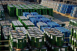 Honeywell Uranium Hexafluoride Processing Facility - Uranium ore concentrate storage at the Metropolis Works Facility