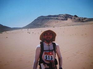 A competitor at Marathon Des Sables, Morocco
