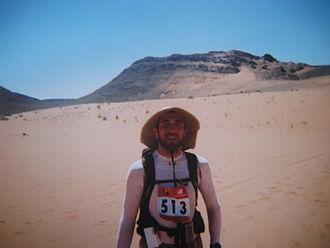 Marathon des Sables - A competitor at Marathon des Sables, Morocco