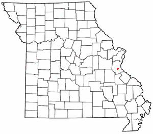 Hematite, Missouri - map of Hematite in Missouri