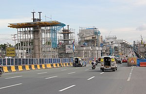 MRT-7 Batasan Station Construction.jpg