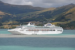 MS Dawn Princess, Akaroa Harbour, 2013.JPG