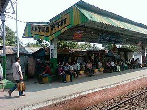 Madhyamgram railway station - The Madhyamgram railway station