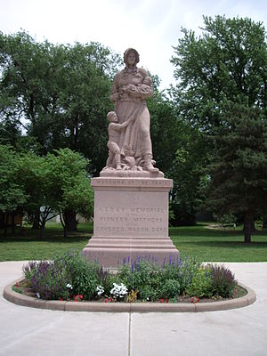 Council Grove, Kansas - Madonna of the Trail monument in Council Grove (2005)