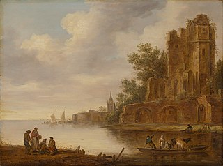 Coastal Landscape with Ruin