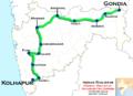 Maharashtra Express (Gondia - Kolhapur) route map.png