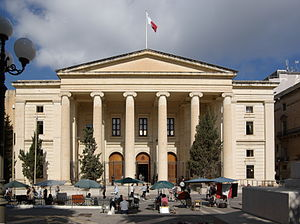 Politics of Malta - The Courts of Justice building in Valletta