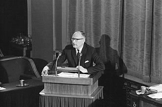 Johan van Hulst - Van Hulst speaking in the Senate, February 1963