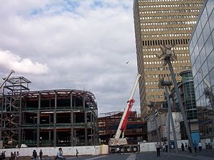 Corporation Street, Manchester - Construction of the Manchester Arndale North development in 2004. The main entrance is located here