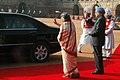 Manmohan Singh and his wife Smt. Gursharan Kaur at the ceremonial reception of the Prime Minister of the Republic of Turkey, Mr. Recep Tayyip Erdogan and Mrs. Emine Erdogan at Rashtrapati Bhavan, in New Delhi.jpg