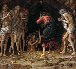 Harrowing of Hell - Christ's Descent into Limbo by Andrea Mantegna and studio, c. 1470.