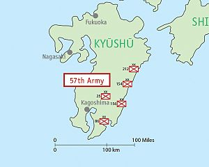 Fifty-Seventh Army (Japan) - Image: Map IJA Army, 57th