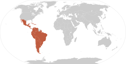 latin america on world map