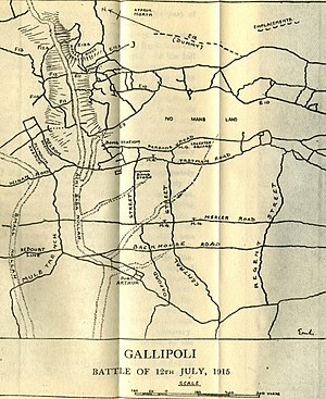Battle of Gully Ravine - Area of the attack of 12 July