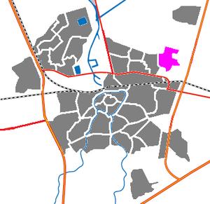Teteringen - Image: Map NL Breda Teteringen