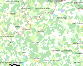 Map commune FR insee code 19265.png