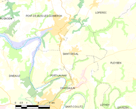 Mapa obce Saint-Ségal