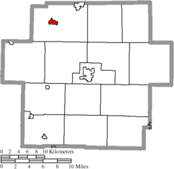 Location of Malvern in Carroll County