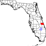 A state map highlighting Indian River County in the eastern part of the state. It is small in size.