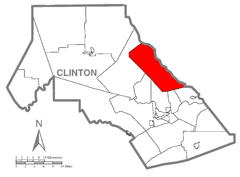Map of Gallagher Township, Clinton County, Pennsylvania Highlighted.png