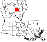 State map highlighting Caldwell Parish