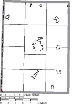 Location of College Corner in Preble County
