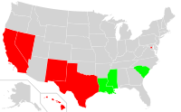 US States in which no ethnic or racial group forms a majority