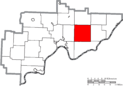 Location of Lawrence Township in Washington County
