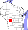 State map highlighting Monroe County