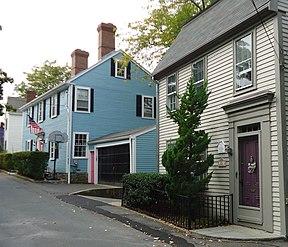 Marblehead Massachusetts street scene and buildings